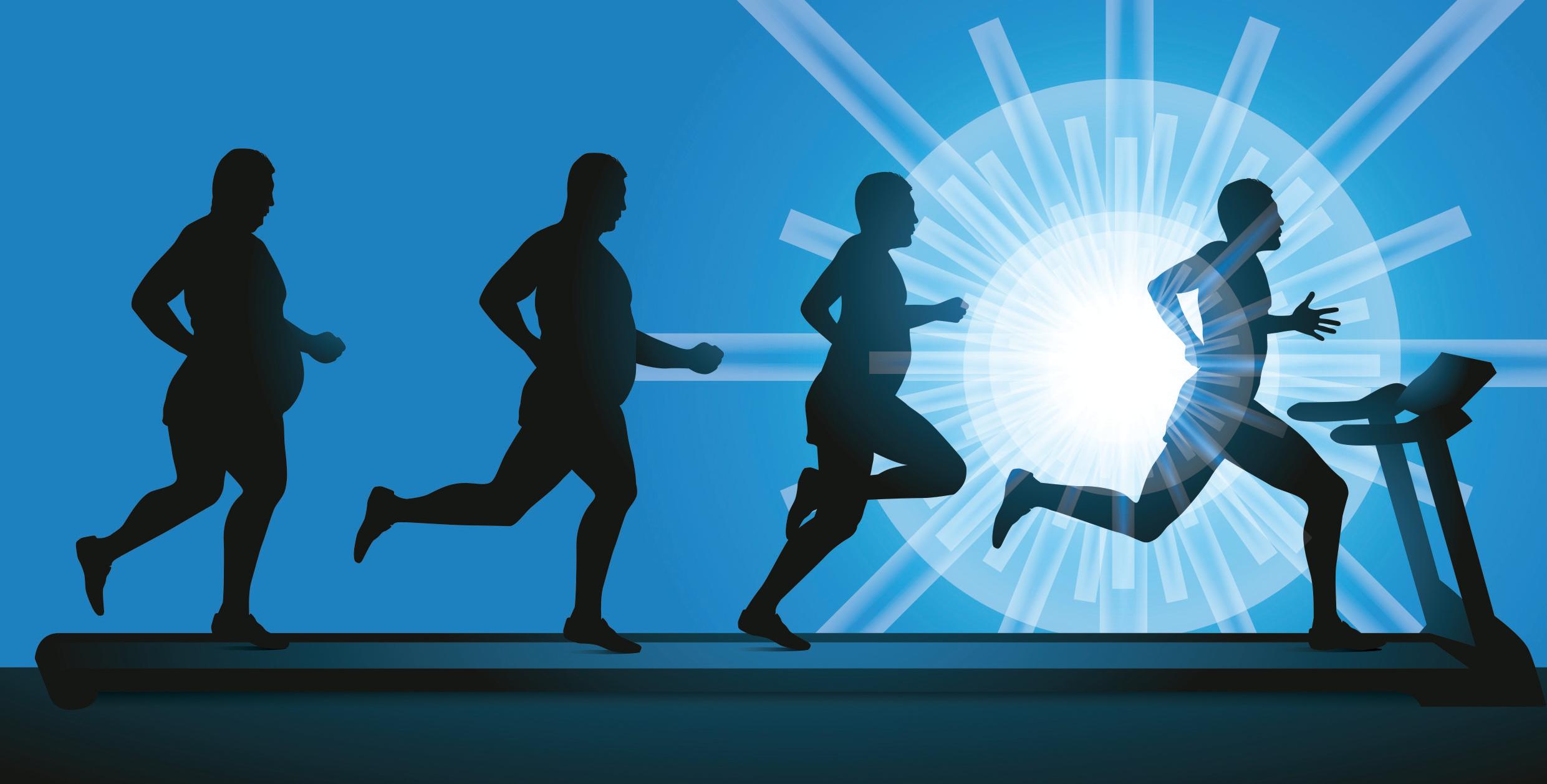 Fitnessstudio und Gewichtsverlust