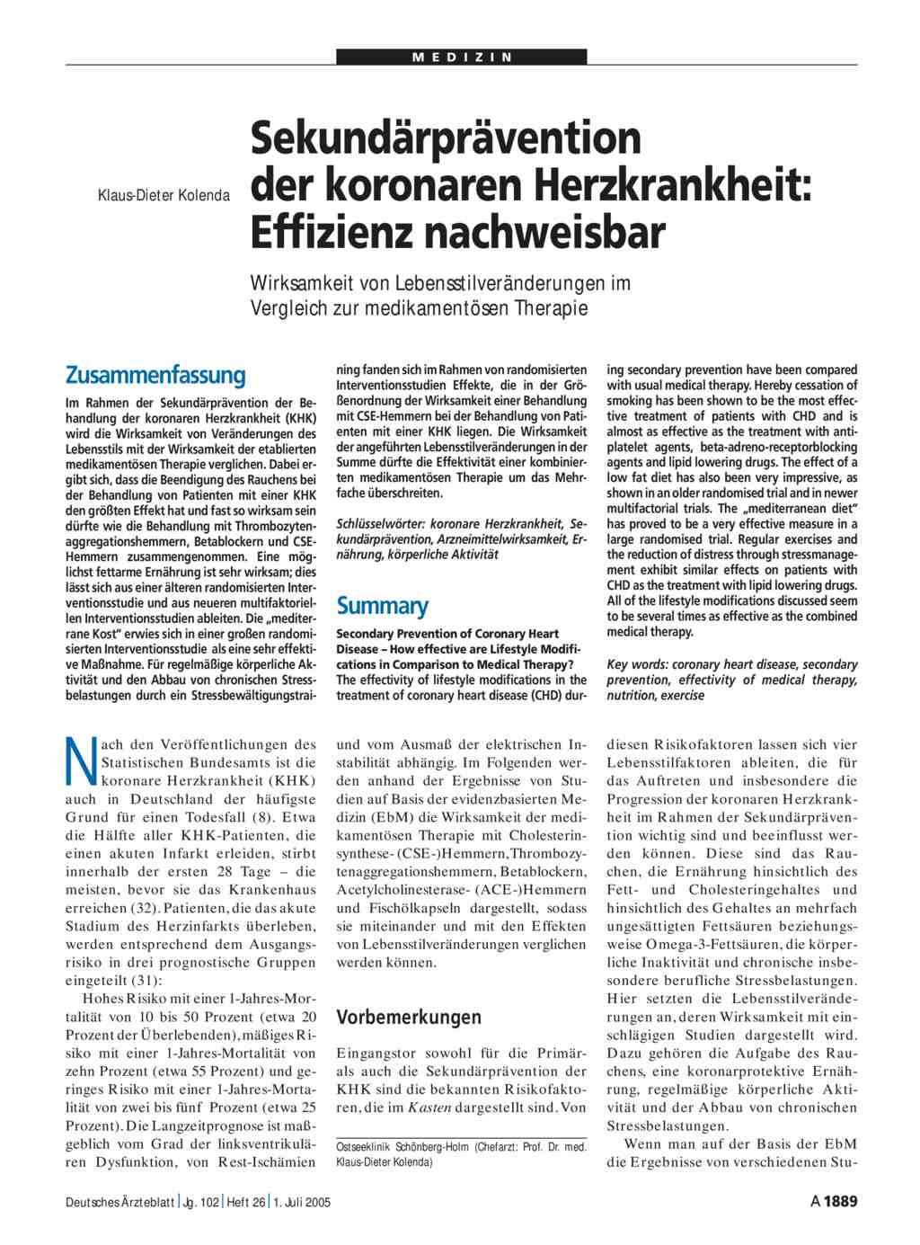 dissertation koronare herzkrankheit