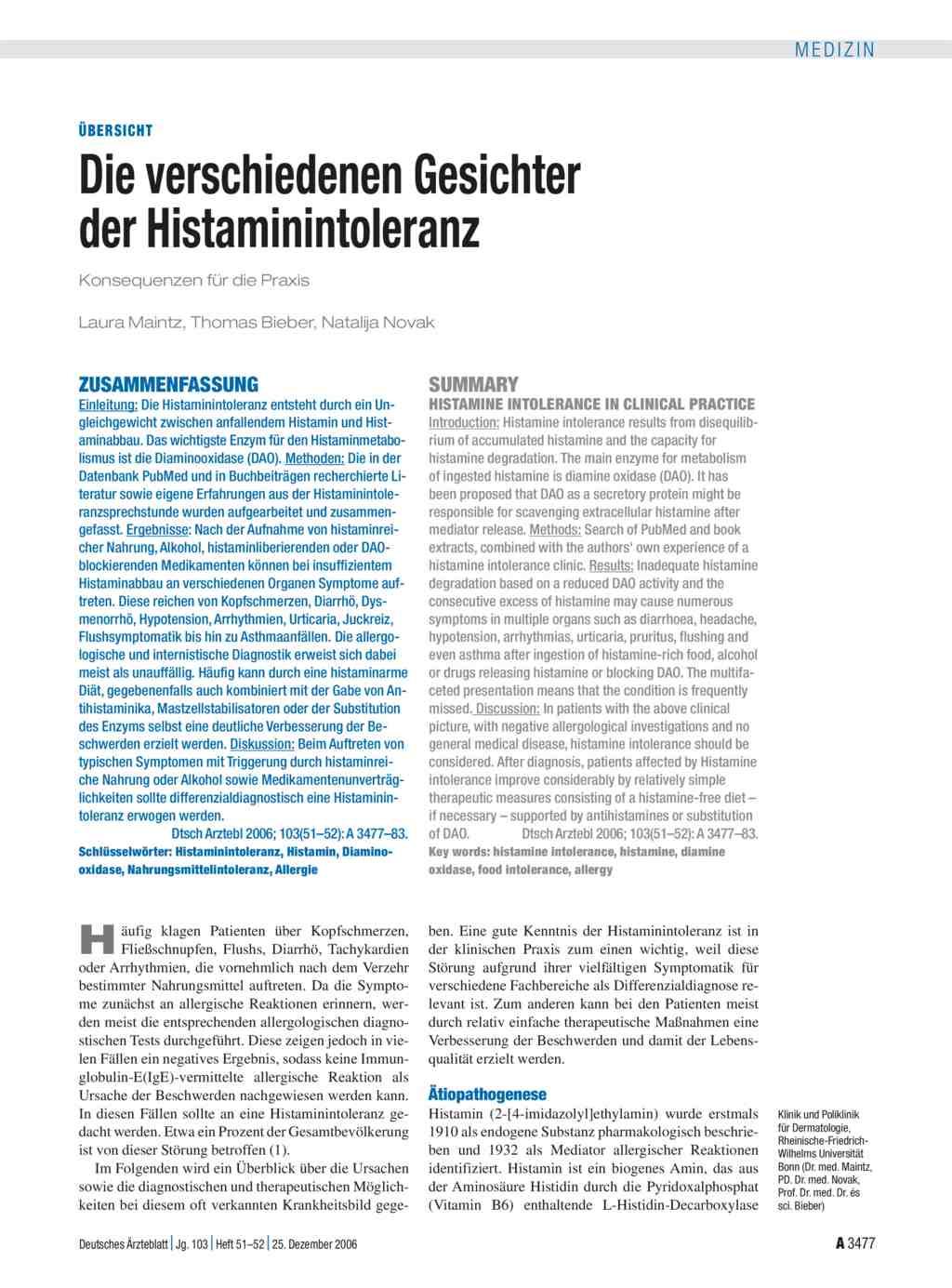 Was ist die niedrige Histamin-Diät