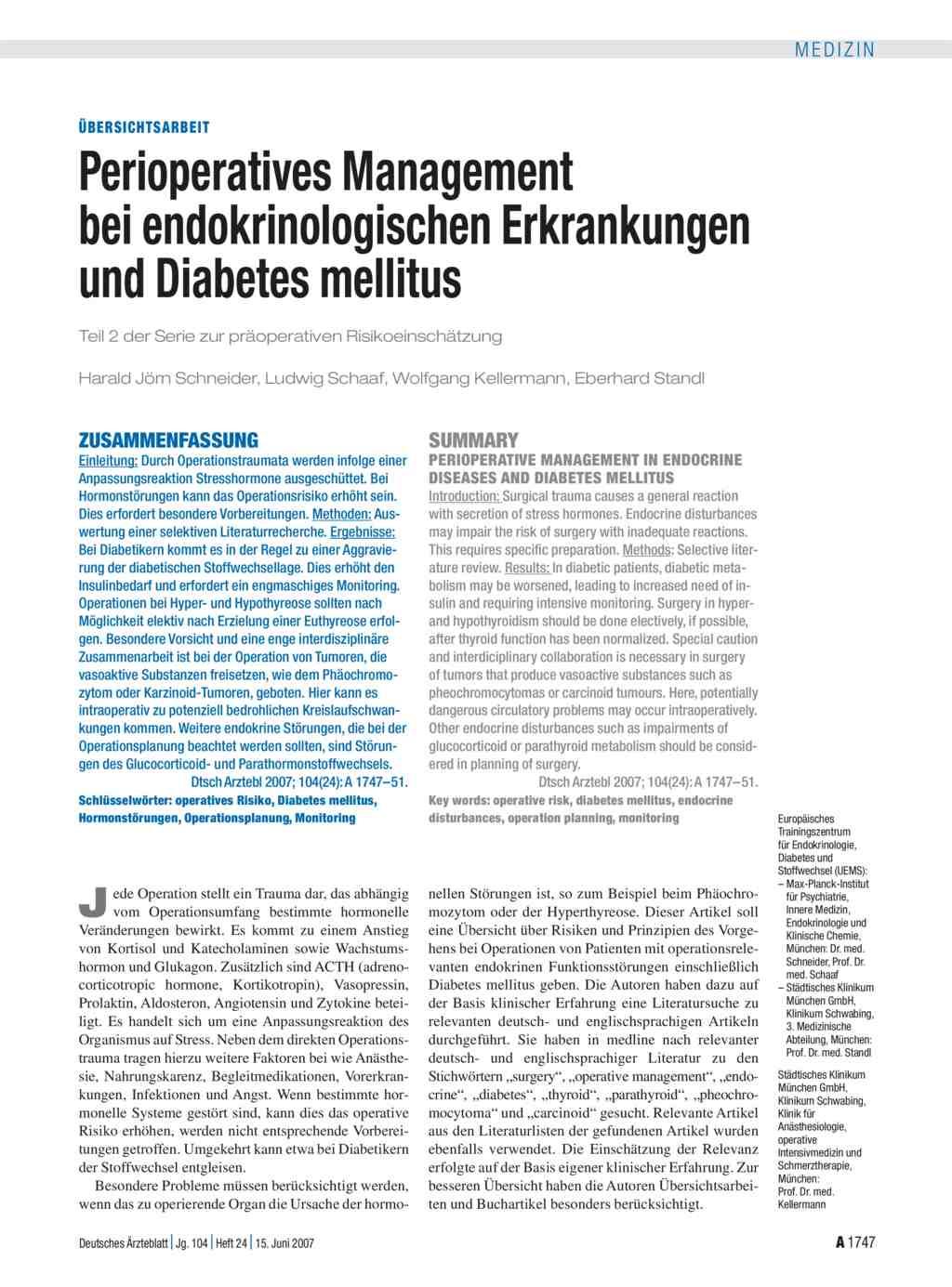 kinderklinik schwabing diabetes mellitus
