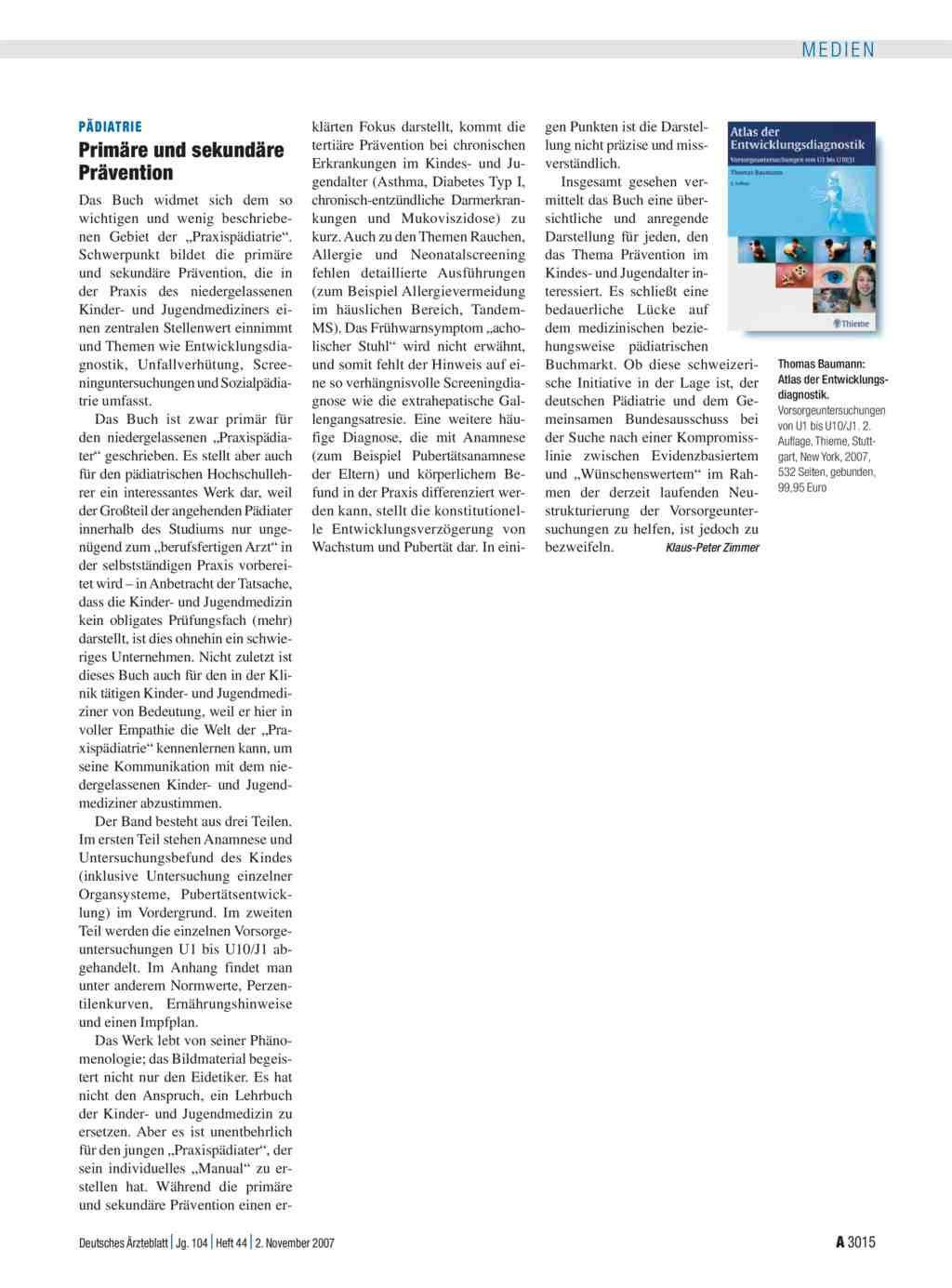 Atlas Der Entwicklungsdiagnostik Vorsorgeuntersuchungen Von U1 Bis