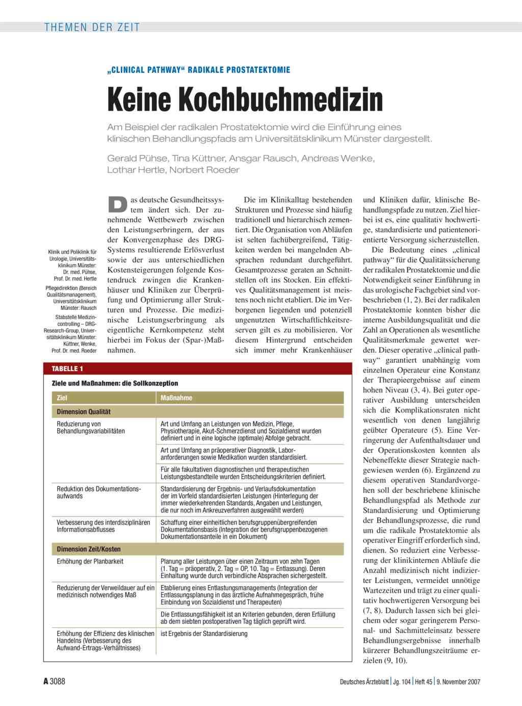dissertation radikale prostatektomie