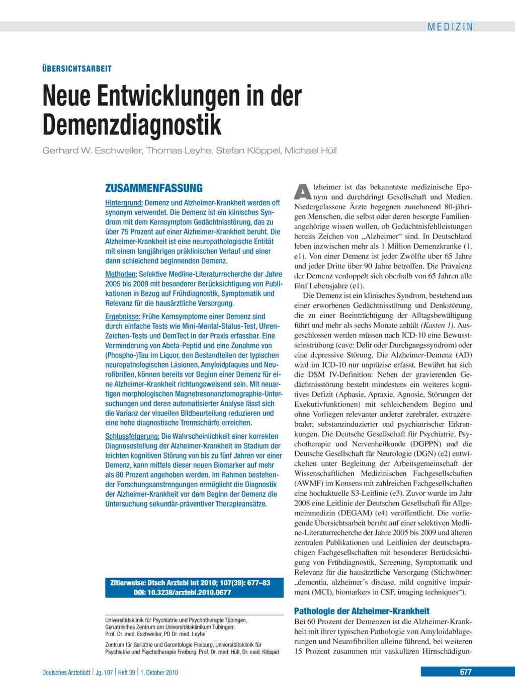 unterschied alzheimer und demenz