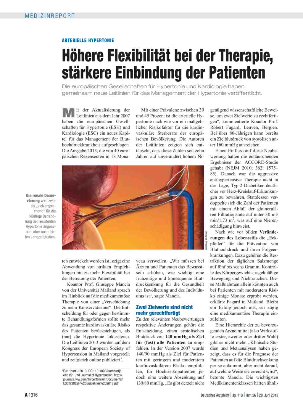 Arterielle Hypertonie: Höhere Flexibilität bei der..