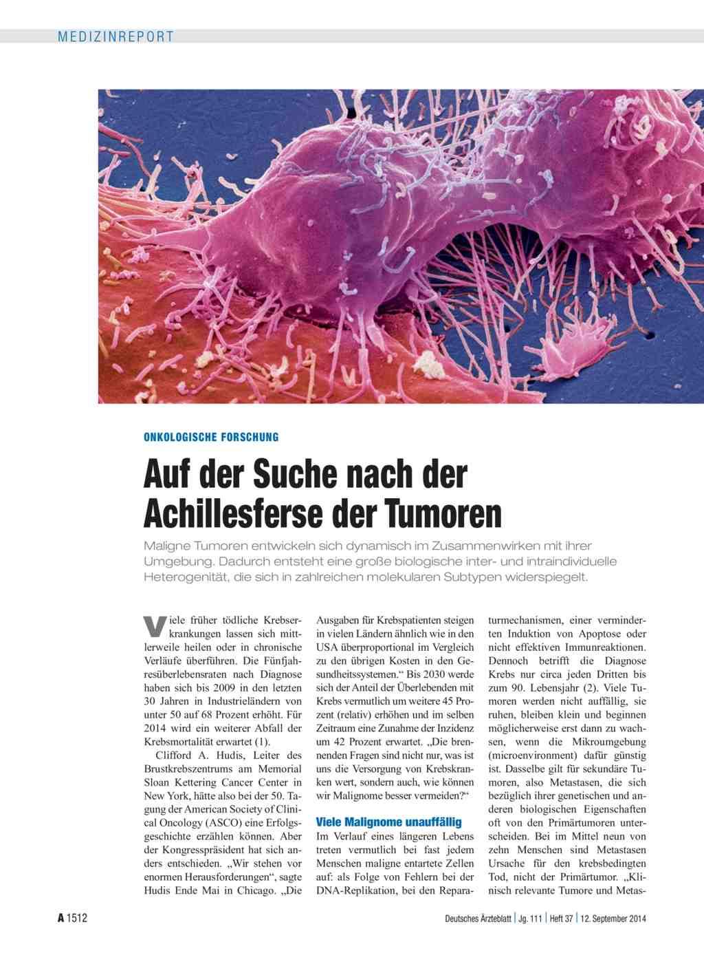Entstehung Wachstum Und Chemotherapie Maligner Tumoren Arzneimittel-forschung, Medizin