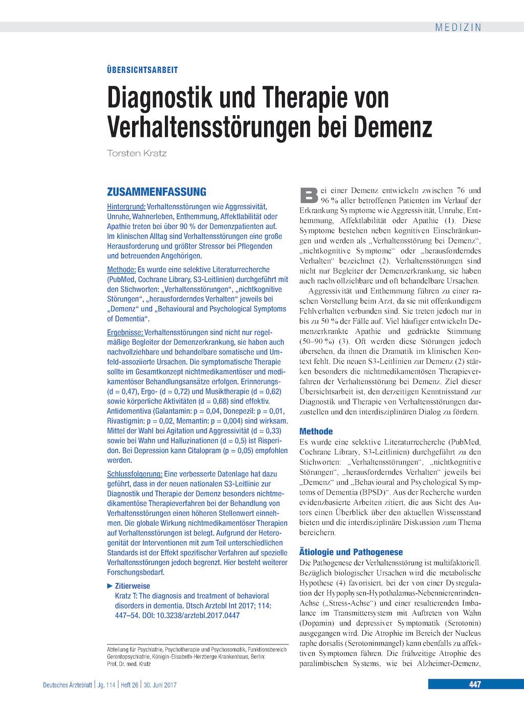 Diabetes und Kognition: Prädisposition zur Demenz