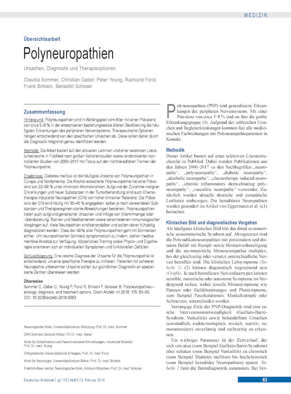 neuropathie medikamente