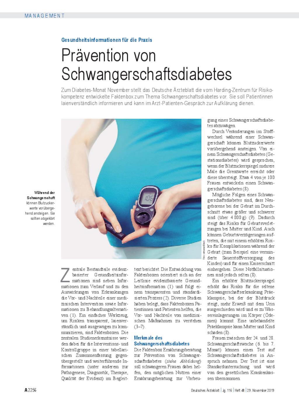 neue leitlinie gestationsdiabetes