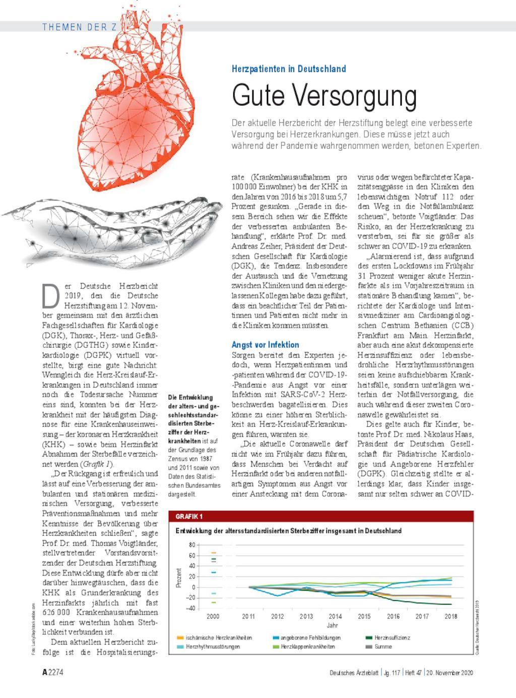 Herzpatienten in Deutschland: Gute Versorgung
