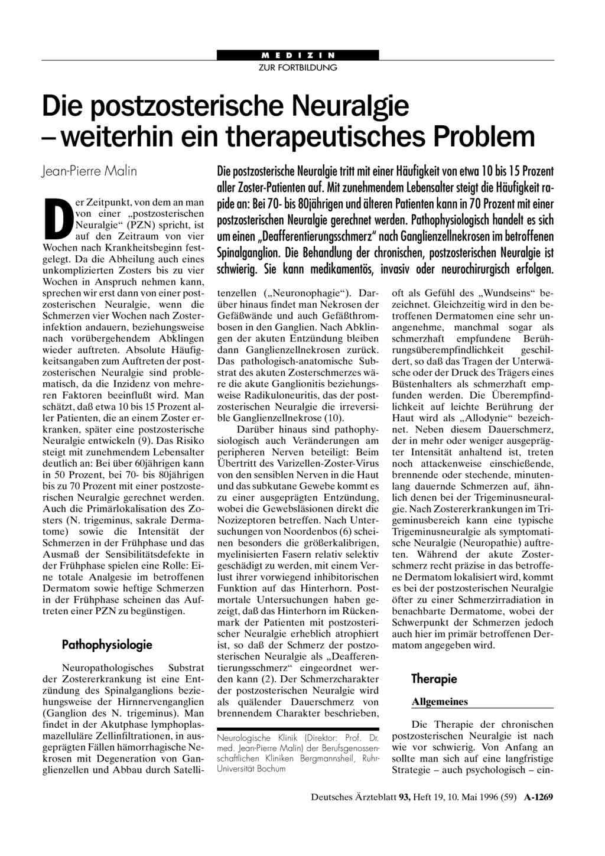 Salbe/Gel bei Nervenschmerzen - Erfahrungen / Tips?