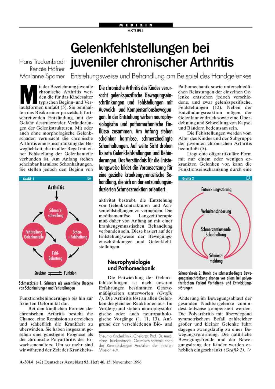 Kinderrheuma: Juvenile idiopathische Arthritis