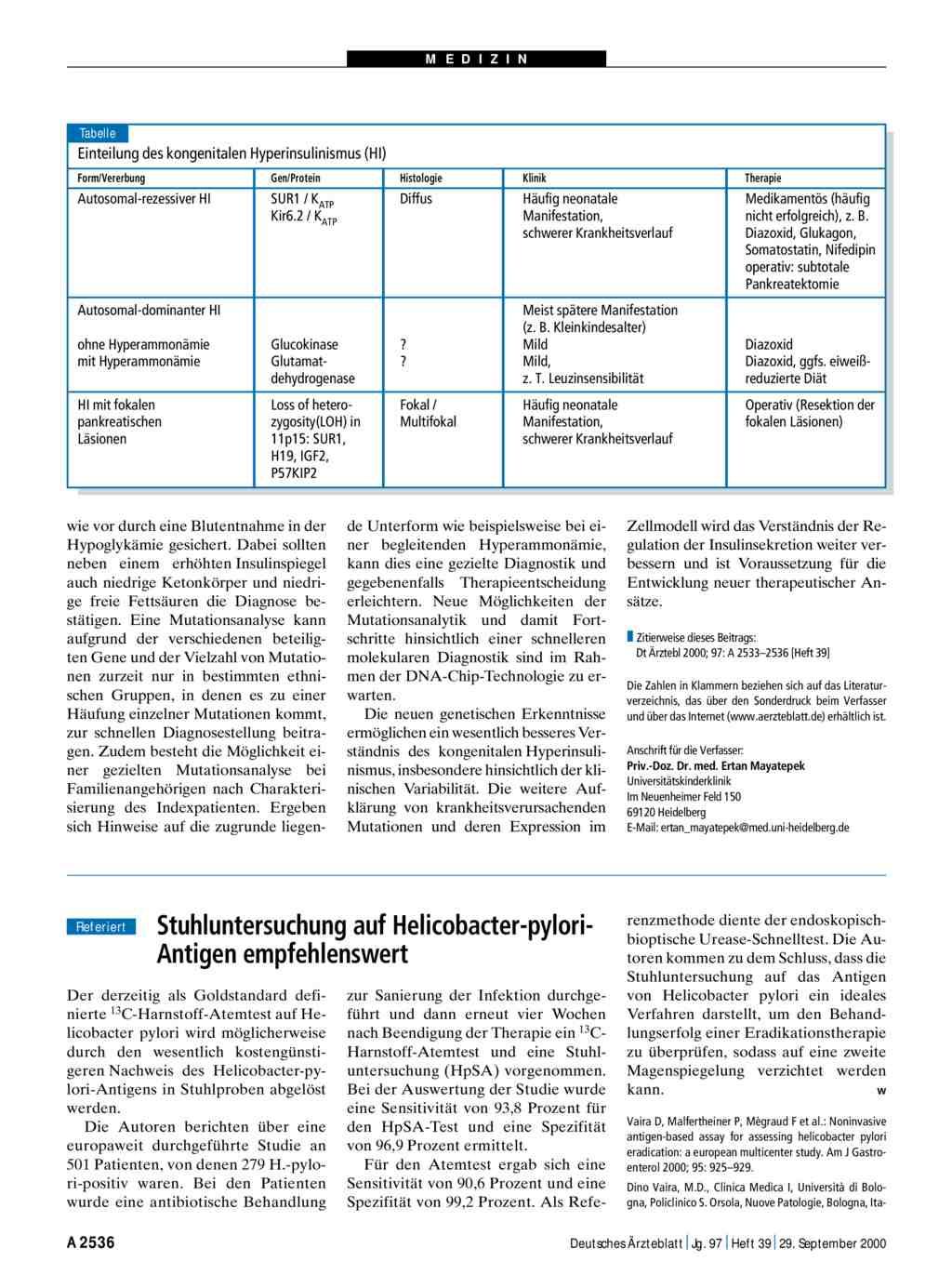 Stuhluntersuchung Auf Helicobacter Pylori Antigen Empfehlenswert