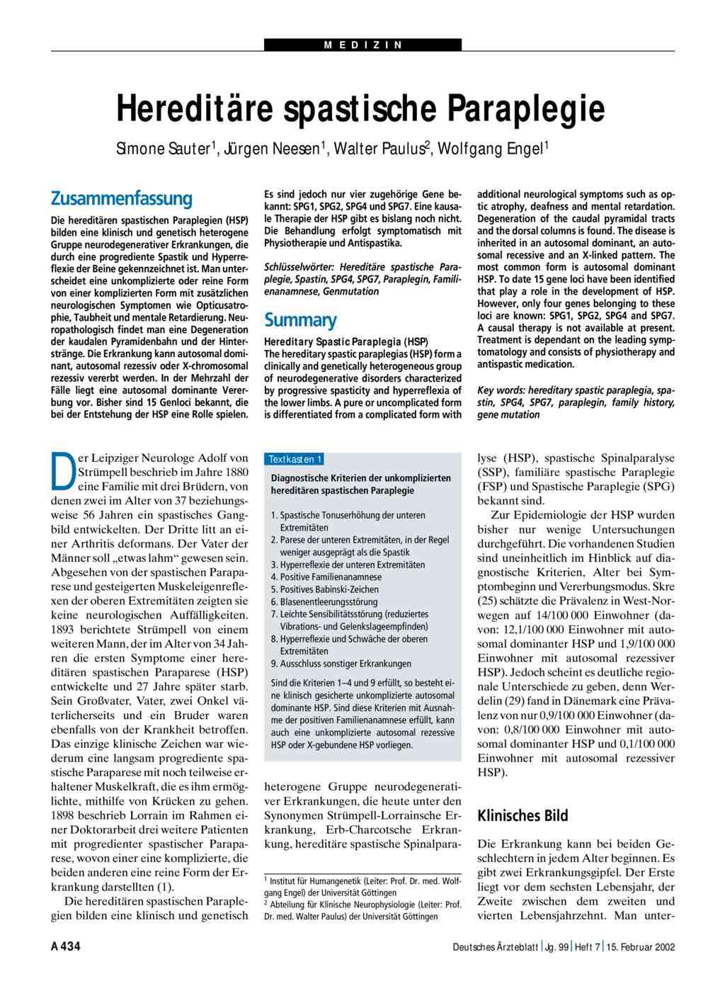 Spastische Lähmung - Ursachen und Behandlung