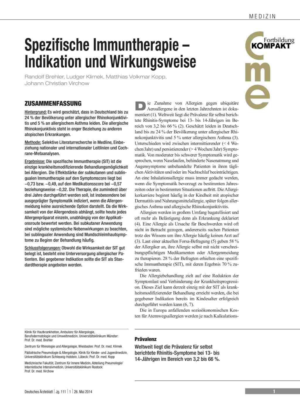 52bd0ef620988 Spezifische Immuntherapie – Indikation und Wirkungsweise