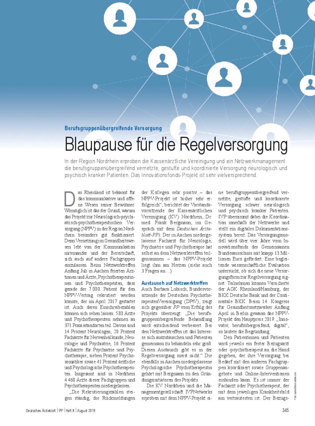 Berufsgruppenübergreifende Versorgung: Blaupause für die Regelversorgung