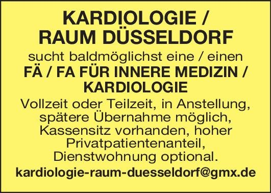 Praxis FÄ/FA Innere Med. / Kardiologie  Innere Medizin und Kardiologie Arzt/Facharzt
