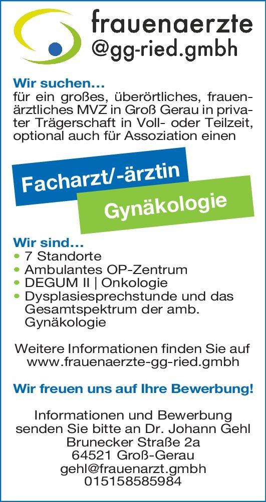 MVZ Dr. Johann Gehl Facharzt/-ärztin Gynäkologie  Frauenheilkunde und Geburtshilfe, Frauenheilkunde und Geburtshilfe Arzt/Facharzt