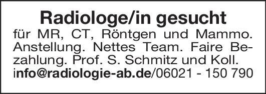 Prof. S. Schmitz und Kollegen Arzt/Ärztin - Radiologie  Radiologie, Radiologie Arzt / Facharzt