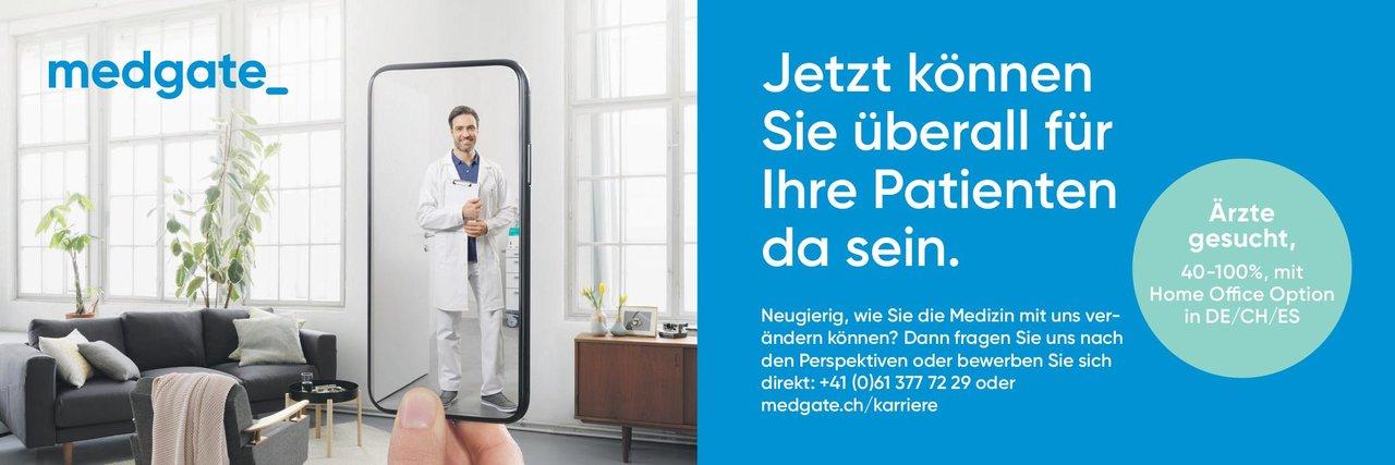 medgate Ärzte gesucht 40-100% * ohne Gebiete Arzt / Facharzt