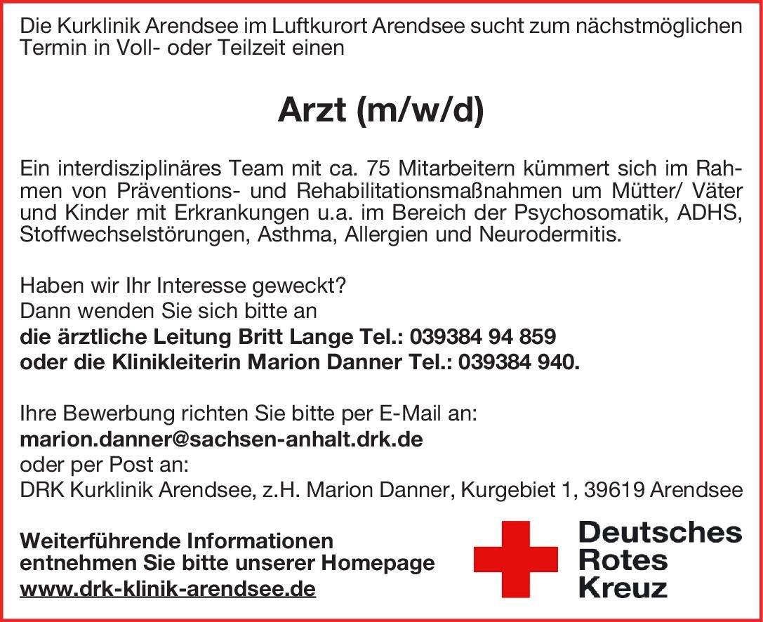 DRK Kurklinik Arendsee Arzt (m/w/d) Physikalische- und Rehabilitative Medizin Arzt / Facharzt