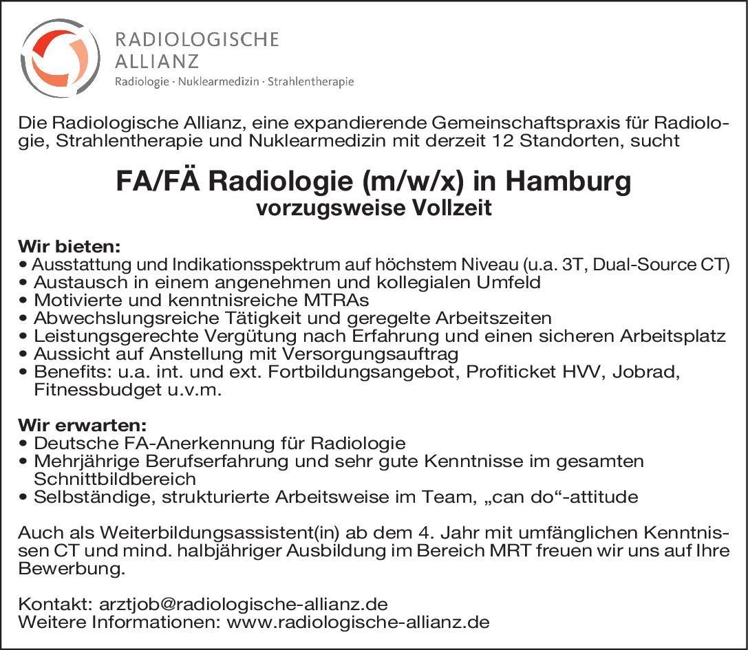 Gemeinschaftspraxis FA/FÄ Radiologie (m/w/x)  Radiologie, Radiologie Arzt / Facharzt