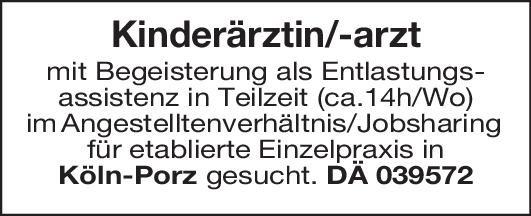 Einzelpraxis Kinderärztin/-arzt Kinder- und Jugendmedizin Arzt / Facharzt