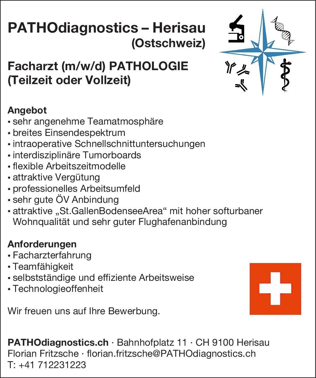 PATHOdiagnostics.ch Facharzt (m/w/d) Pathologie  Pathologie, Pathologie Arzt / Facharzt