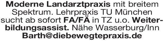 Landarztpraxis Weiterbildungsassistent/in  für Allgemeinmedizin Allgemeinmedizin Assistenzarzt / Arzt in Weiterbildung