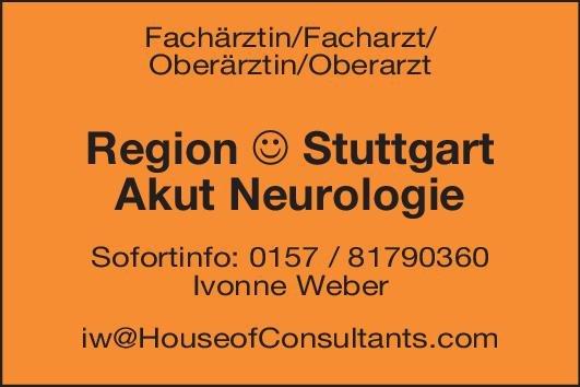 Klinik Fachärztin/Facharzt/Oberärztin/Oberarzt Akut Neurologie Neurologie Arzt / Facharzt, Oberarzt