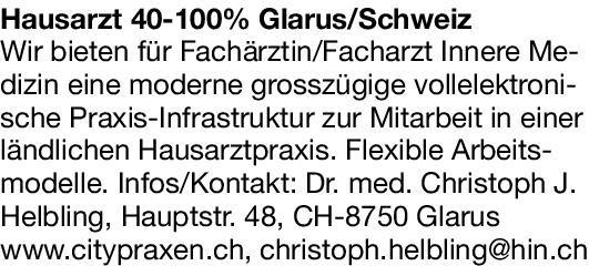 Hausarztpraxis Fachärztin/Facharzt -  Innere Medizin  Innere Medizin, Allgemeinmedizin, Innere Medizin Arzt / Facharzt