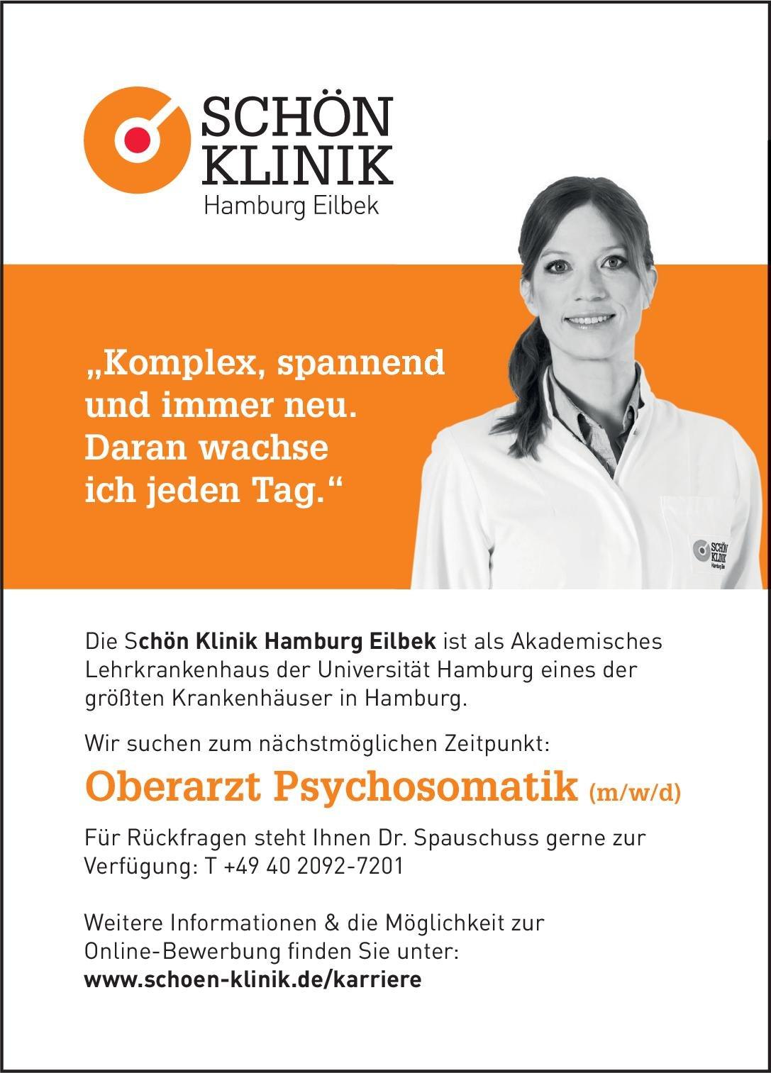 Schön Klinik Hamburg Eilbek Oberarzt Psychosomatik (m/w/d) Psychosomatische Medizin und Psychotherapie Oberarzt