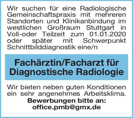 Gemeinschaftspraxis Fachärztin/Facharzt für Diagnostische Radiologie  Radiologie, Radiologie Arzt / Facharzt