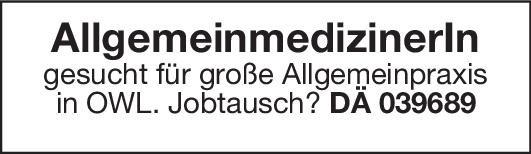 Allgemeinpraxis AllgemeinmedizinerIn Allgemeinmedizin Arzt / Facharzt