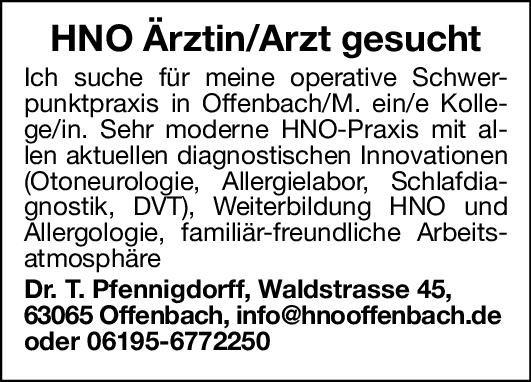 Praxis Dr. T. Pfennigdorff Arzt/Ärztin für HNO  Hals-Nasen-Ohrenheilkunde, Hals-Nasen-Ohrenheilkunde Arzt / Facharzt