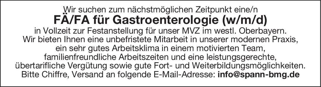 MVZ FÄ/FA für Gastroenterologie (w/m/d)  Innere Medizin und Gastroenterologie, Innere Medizin Arzt / Facharzt