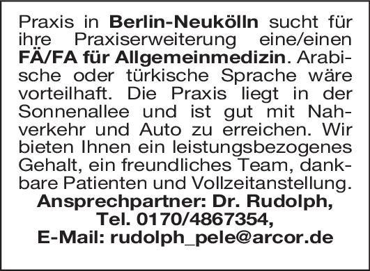 Dr. Rudolph Fachärztin/Facharzt für Allgemeinmedizin Allgemeinmedizin Arzt / Facharzt