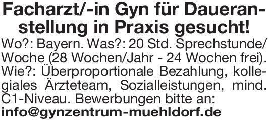 Praxis Facharzt/-in Gynäkologie Frauenheilkunde und Geburtshilfe Arzt / Facharzt