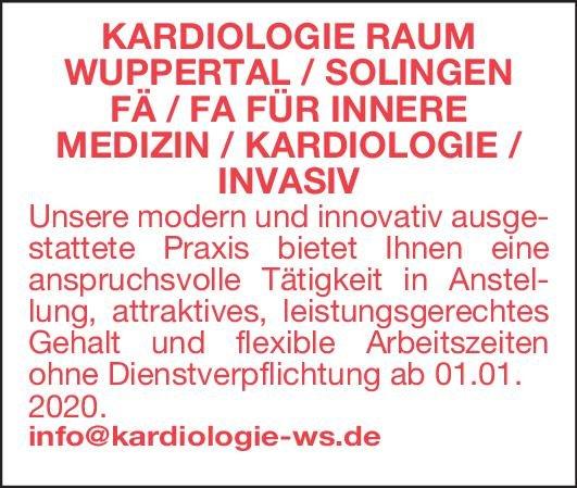 Praxis FÄ/FA für Innere Medizin / Kardiologie / Invasiv  Innere Medizin, Innere Medizin und Kardiologie, Anästhesiologie / Intensivmedizin Arzt / Facharzt