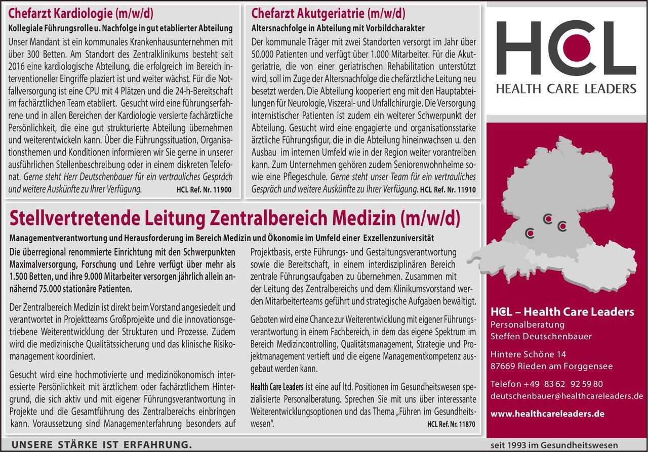 Krankenhaus Chefarzt / Innere Medizin / (Akut) Geriatrie Geriatrie Chefarzt