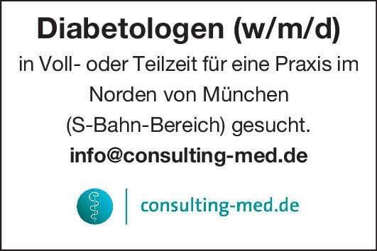 Consulting-med.de Diabetologen (w/m/d)  Innere Medizin und Endokrinologie und Diabetologie, Innere Medizin Arzt / Facharzt