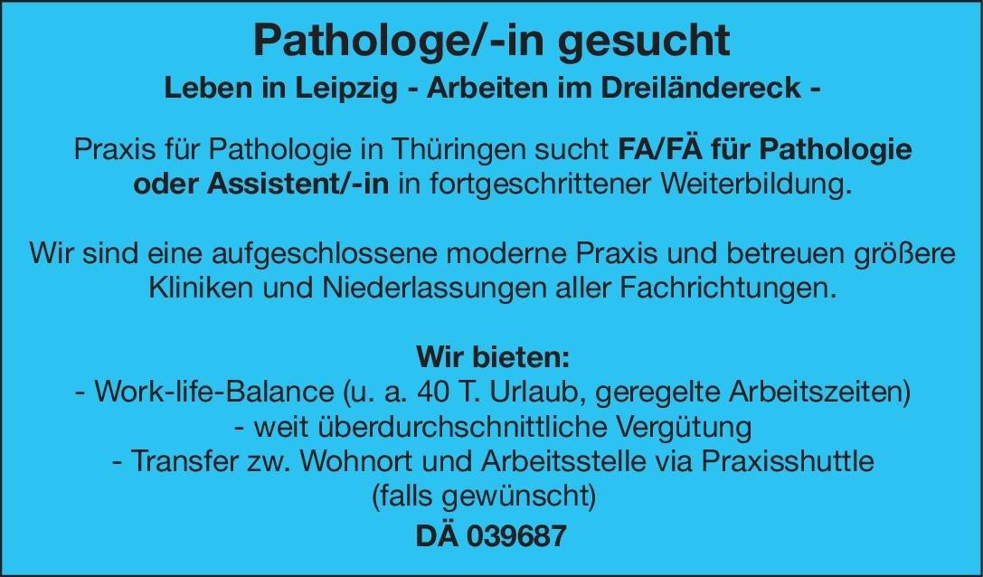 Praxis für Pathologie Facharzt/Fachärztin oder Assistent/-in  für Pathologie  Pathologie Arzt / Facharzt, Assistenzarzt / Arzt in Weiterbildung
