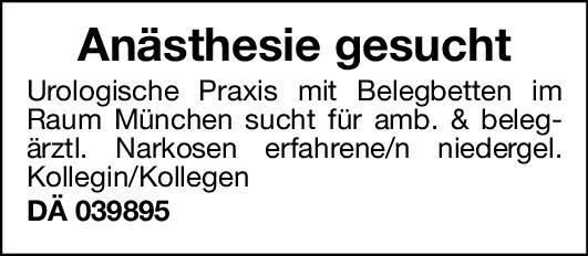Urologische Praxis Facharzt Anästhesie (m/w/d) Anästhesiologie / Intensivmedizin Arzt / Facharzt