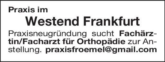 Praxis Fachärztin/Facharzt für Orthopädie  Orthopädie und Unfallchirurgie, Chirurgie Arzt / Facharzt