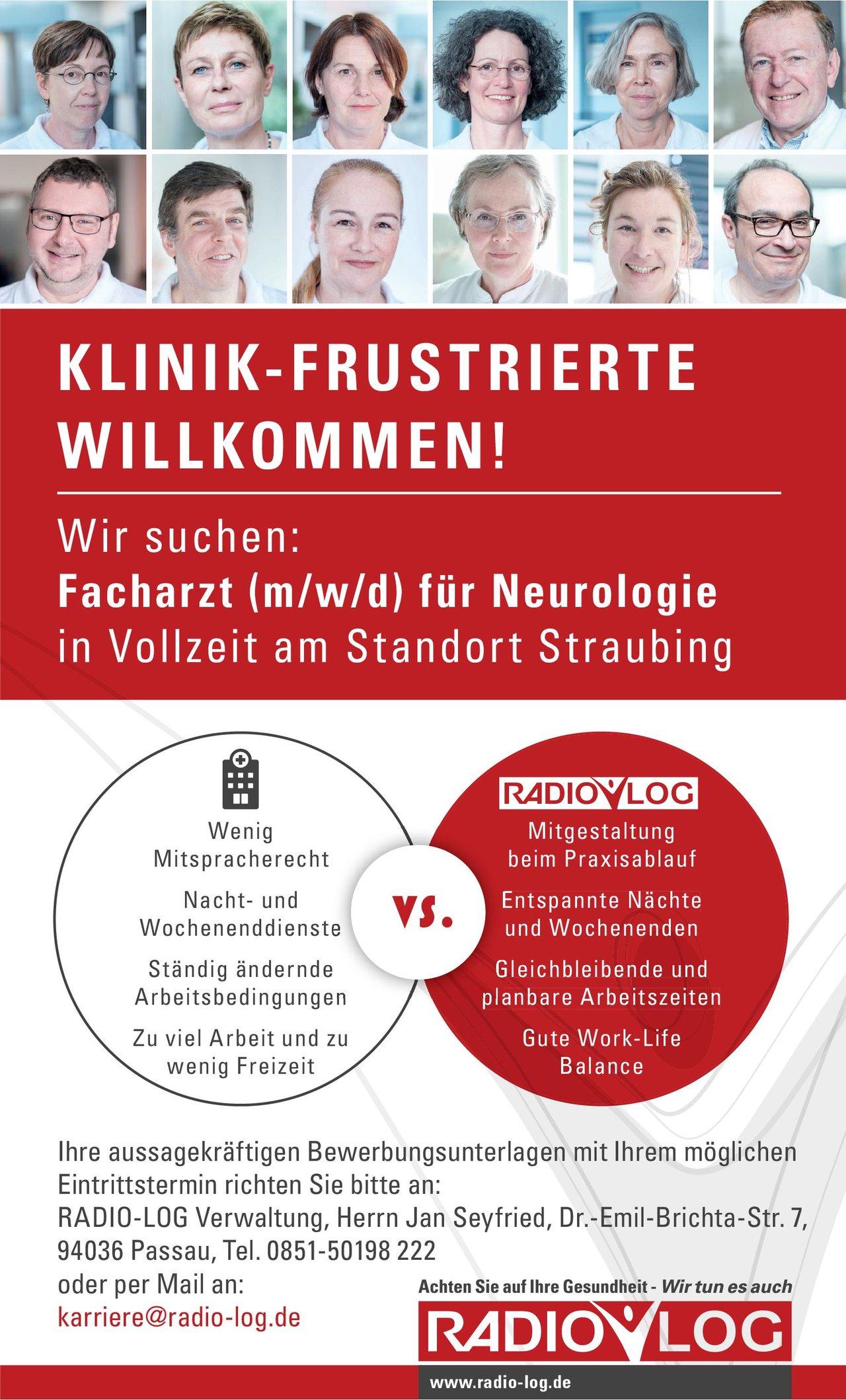 RADIO-LOG Facharzt (m/w/d) für Neurologie Neurologie Arzt / Facharzt