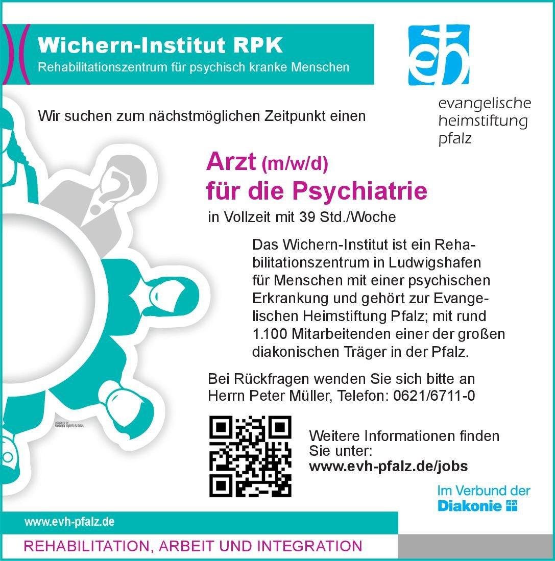 Wichern-Institut RPK Arzt (m/w/d) für Psychiatrie  Psychiatrie und Psychotherapie, Psychiatrie und Psychotherapie Arzt / Facharzt