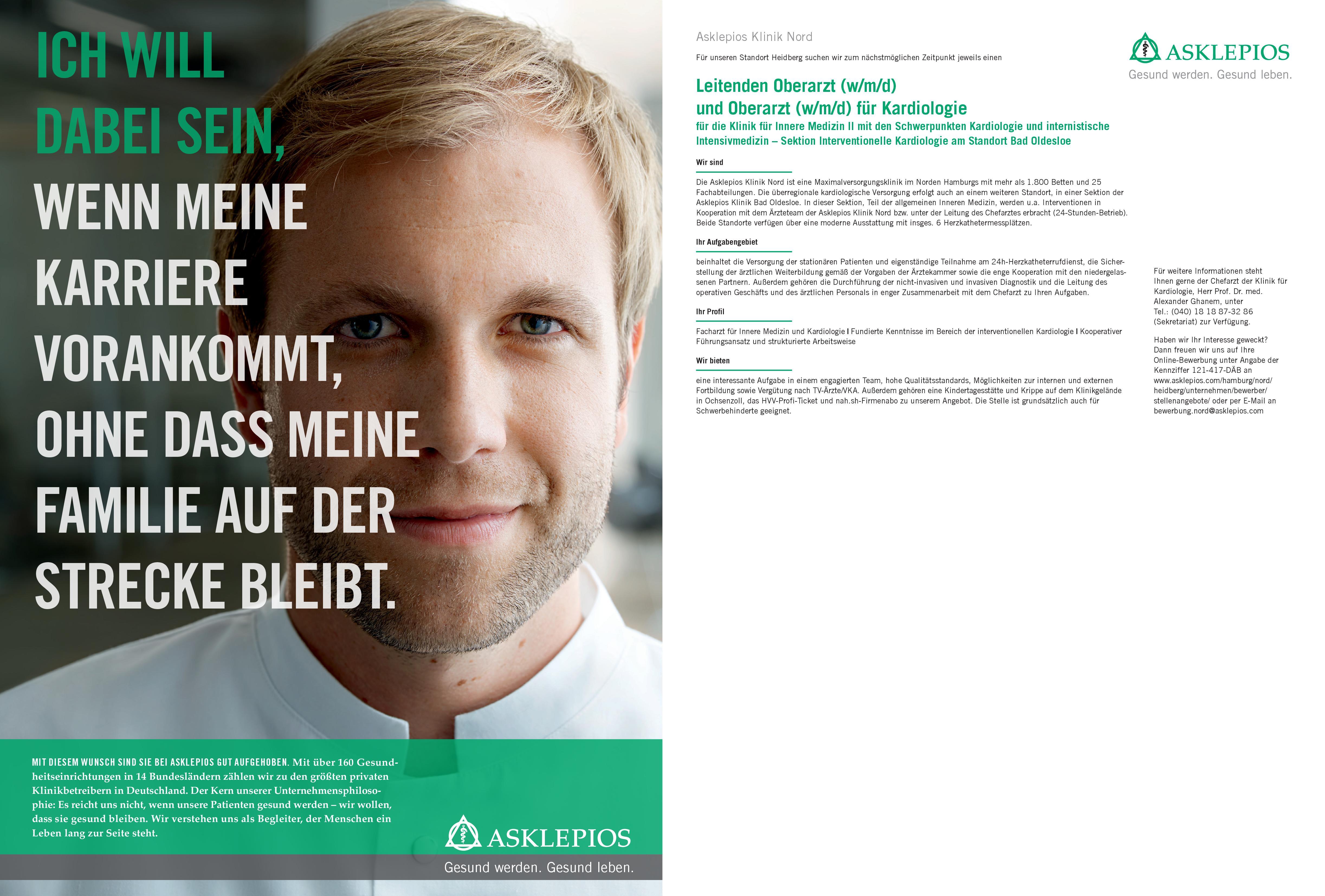 Asklepios Klinik Nord Oberarzt (w/m/d) Kardiologie  Innere Medizin und Kardiologie, Innere Medizin Oberarzt
