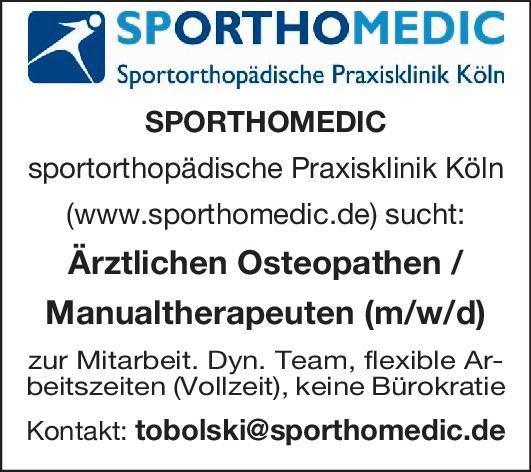 SPORTHOMEDIC Praxisklinik Köln Manualtherapeut (m/w/d)  Orthopädie und Unfallchirurgie Arzt / Facharzt