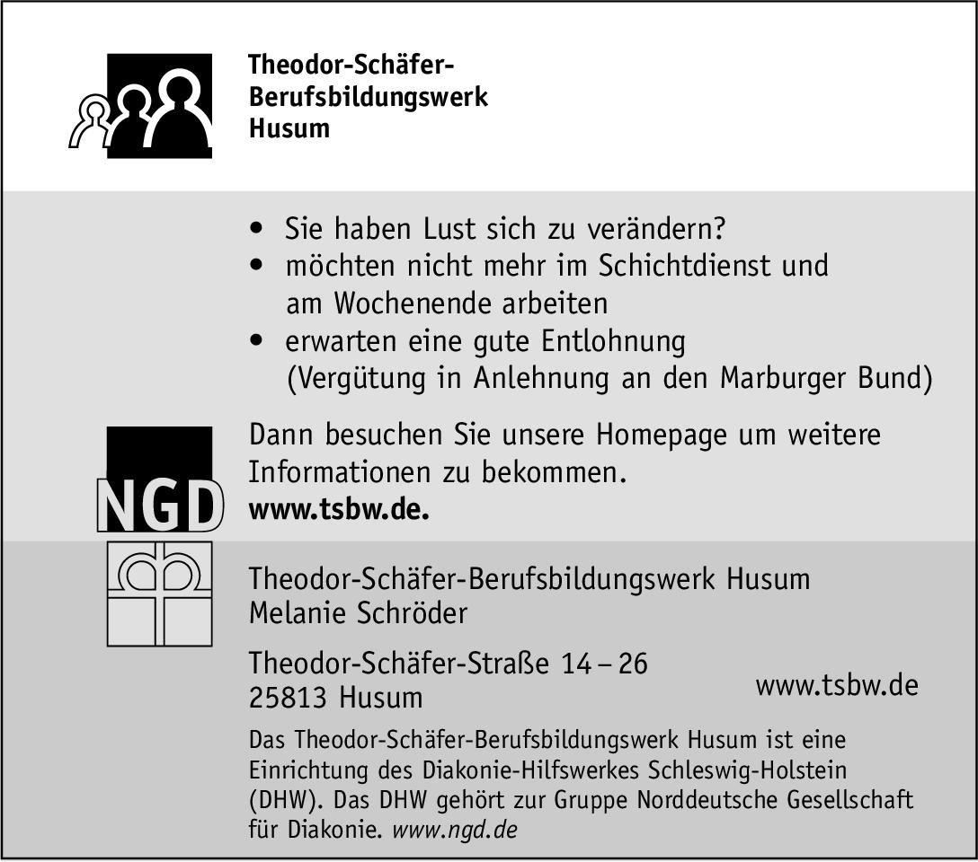 Theodor-Schäfer-Berufsbildungswerk Husum Arzt * ohne Gebiete Arzt / Facharzt