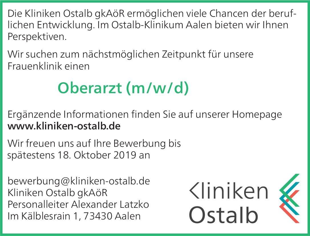 Kliniken Ostalb gkAöR Oberarzt (m/w/d) für die Frauenklinik  Frauenheilkunde und Geburtshilfe, Frauenheilkunde und Geburtshilfe Oberarzt