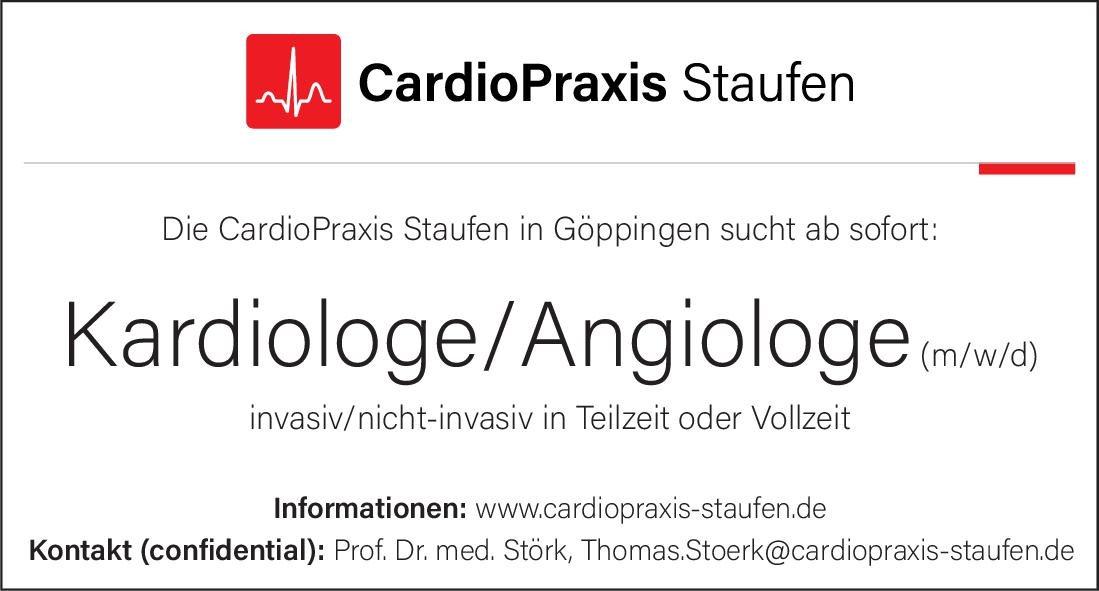 Cardio Praxis Staufen Kardiologe/Angiologe (m/w/d)  Innere Medizin und Angiologie, Innere Medizin und Gastroenterologie, Innere Medizin Arzt / Facharzt